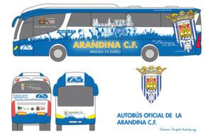 Diseño final del autobús oficial de la Arandina C.F.