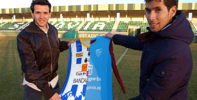 Juan Carlos Higuero promociona el partido (G.Segoviana VS Arandina C.F.)