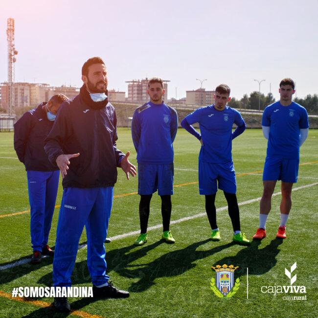 Álex Izquierdo entrenador de la Arandina CF